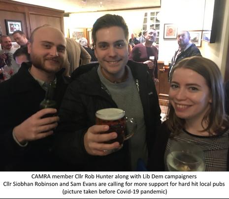 Rob, Siobhan, Sam pub
